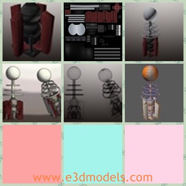 3d model the coil tower - This is a 3d model of the coil tower,which is small but very powerful.