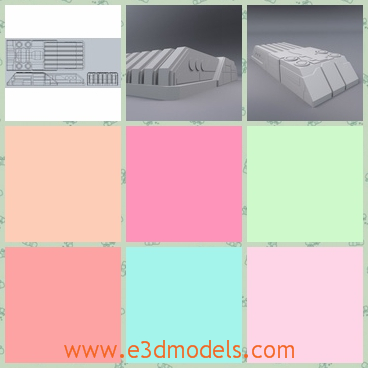 3d model the greeble structure in the building - This is a 3d model of the greeble structure,which is appeared in the building.The structure is sophisticated but practical.