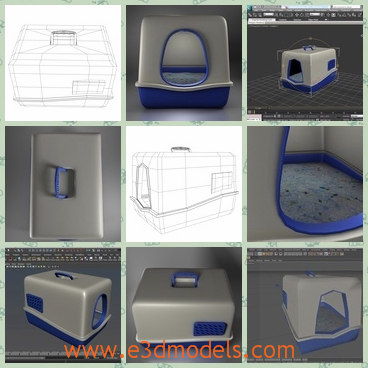 3d model the litter box - This is a 3d model of the litter box,which is designed to provide a high definition in a low poly and the shape is fine.