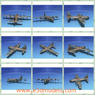 3d model of a Greek aircraft - There is a 3d model which is about a very advanced military plane which has brown paints. This plane has been serving air force for more than 50 years.