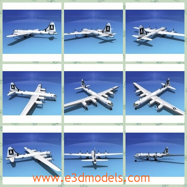 3d model of dreamscape B-29 superfortress - This 3d model is about a military aircraft. This aircraft has ranges of 5000 NM and can carry large bomb loads. It was developed primarily to be the first strategic bomber of the US.