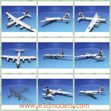 3d model of dreamscape B-50 superfortress II V07 - This 3d model is about the famous B-50 bomber  which provided the USAF Strategic Air Command with powerful conventional bomber that could double as a nuclear deterrent in the  expanding Cold War.