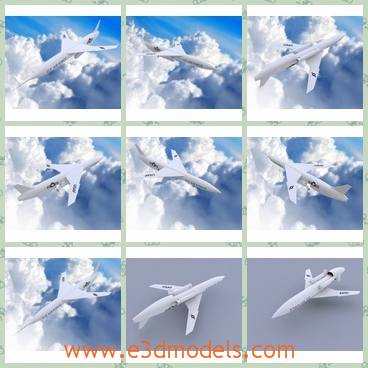 3d model of snark aircraft - This is a very high detailed 3D model which is about a white plane. This project is ready for render and all textures that you need are in the tex folder.