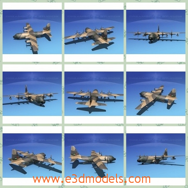 3d model of the Dreamscape C-130 HerculesV15 Jorda - This is a 3d model about the Dreamscape C-130 HerculesV15 Jordan. The aircraft has been modernized and updated many times but is still one of the most reliable and capable rough field transport aircraft.