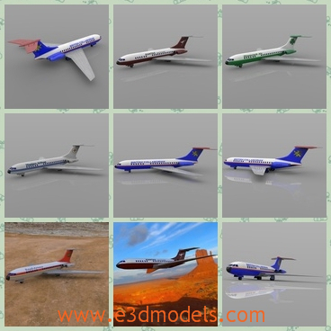 3d model of Vickers VC-10 - This 3d model is about the Vickers VC10 which  is a long-range British airliner and first flown at Brooklands, Surrey, in 1962.It has a long white body with a blue fin.
