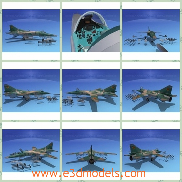 3d model the aircraft as the bomber - This is a 3d model of the aircraft as the bomber,which is capable of automatic night or bad weather and blind bombing with a very high degree of accuracy.