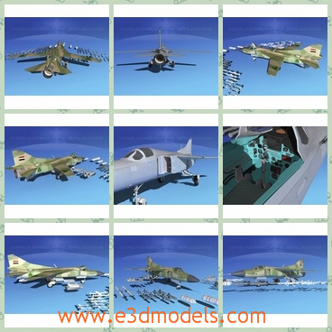 3d model the aircraft of Iraq - This is a 3d model of the aircraft of Iraq,which is the necessary equipment in the army.