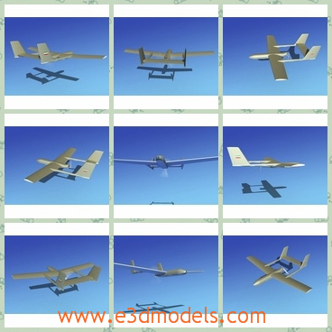 3d model the aircraft of Mohajer - This is a 3d model about the aircraft of Mohajer,which was first developed at the peak of the Iran-Iraq war. Four prototypes were built in 1981 and were initially put into service to monitor the enemy lines.