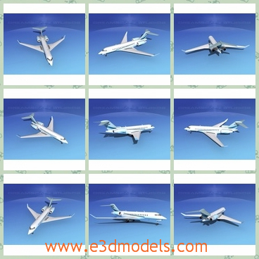 3d model the airplane in white - THis is a 3d model about the airplane in white,which is produced for the commercial useage.