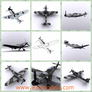 3d model the airplane used by Nazi - This is a 3d model of the airplane used by Nazi,which is small but with high speed.