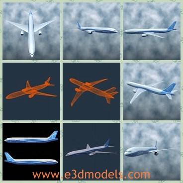 3d model the Boeing 777 - Share and Download 3D Models at