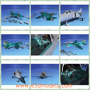 3d model the bomber of the military - This is a 3d model of the bomber of th military,which is the equipment of the army and the model is first flew on June 1972. It was the first truly mass-produced version of the MiG-23.