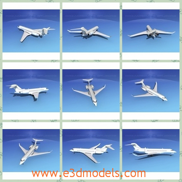 3d model the business plane - This is a 3d model of the business plane,which is the jet used in common ways.The plane is white and practical.