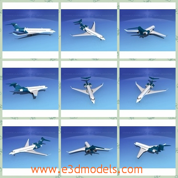 3d model the commercial plane - This is a 3d model of the commercial plane,which is big and safe.The plane is  able to fly farther than any other business jet.