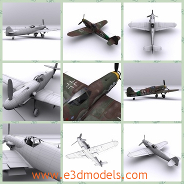 3d model the German fighter - This is a 3d model of the German fighter,which is used in the wars.The model is outdated and the plane is rare.