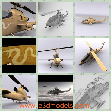3d model the helicopter in the army - This is a 3d model of the helicopter in the army,which is the weapon of Israel.The plane is made with two seats.