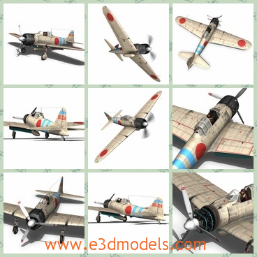 3d model the Japanese fighter - This is a 3d model of the Japanese fighter,which has the map of the country on the back of the fighter.