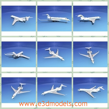 3d model the plane in business - This is a 3d model of the plane in business,which is white and large..As the world