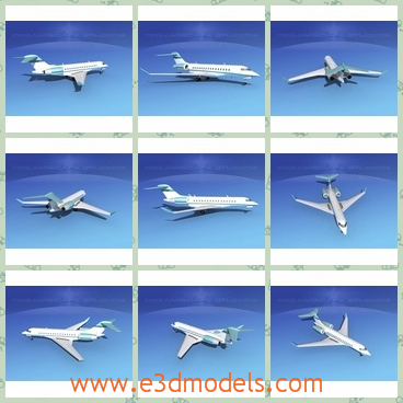 3d model the plane in commercial purpose - This is a 3d model of the plane in commercial purpose,which is white and large and in high quality.