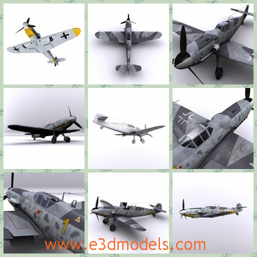 3d model the plane of Russia - This is a 3d model of the plane of Russia,which was made in 1943 and existed in the Eastern Geramny at that time.