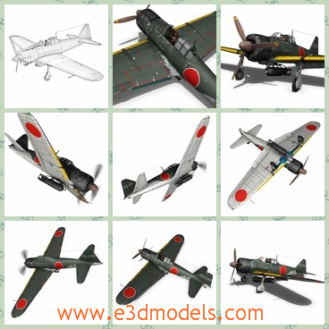 3d model the plane of the kamikaze - This is a 3d model of the plane of the Kamikaze,which contains bodypaint textures and standard materials.
