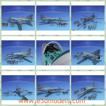 3d model the russian jet - This is a 3d model of the Russia jet,which is the serious fighter of Russia.The model is useful and powerful in the military.