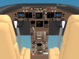 3d model the cockpit of the airplane
