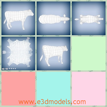 3d model of a cow - This 3d model is about a big cow and this cow has a big belly. On his head we can see two cute ears.