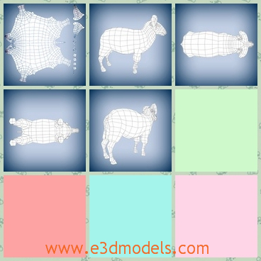 3d model of a fat sheep - This 3d model is about a fat sheep which has a small head and four short legs. This sheep is shown from different angles of view.