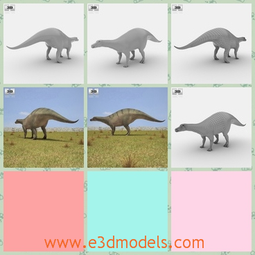 3d model the animal in the plain - This is a 3d model of the animal in the plain,which is large and dangerous.The model is extinct roght now.
