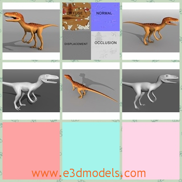 3d model the baby dinosaur - This is a 3d model of the baby dinasaur,which is roaring and searching for something to eat.The model is small and cute.