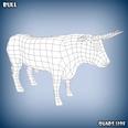 3d model of a bull