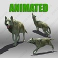 3d model the animated wolf