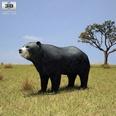 3d model the bear in the plain