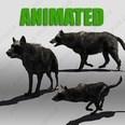 3d model the black wolf