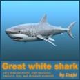3d model the white shark