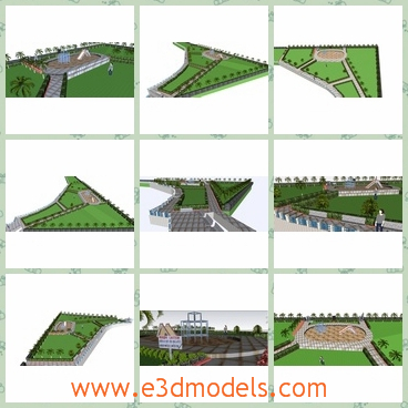 3d model a garden in Japan - This is a 3d model of a Japanese garden,which can be used as the playground and it closed the sea.The arrangement is clear and the field is properly used.