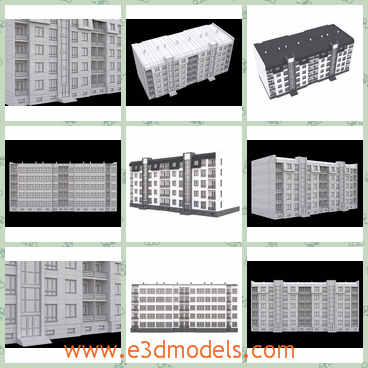 3d model an apartment building as a hotel - This is a 3d model about an apartment building,which is a big hotel actually.The model is spacious and great.