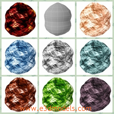 3d model boulder collection - This is a 3d model about the boulder collection with the obvious trait of textured design.The different colors seem more colorful.