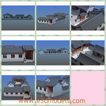 3d model chinese village - Share and Download 3D Models at