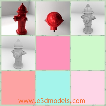 3d model of a fire hydrant - This 3d model is about a fire hydrant which is painted red. This fire hydrant is made by thick iron and it is short but heavy.