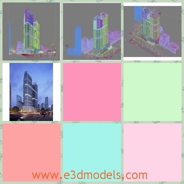 3d model of a scene in the city - This is a 3d model about tall buildings in the city. Buildings can be manipulated easily.All textures have been checked.