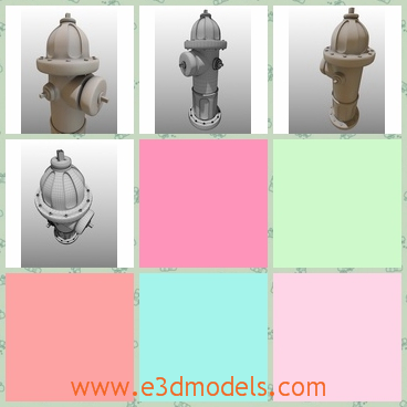 3d model of fire hydrant - There is a 3d model which is about a fire hydrant. It is very heavy though it is very short and it is made of thick iron.