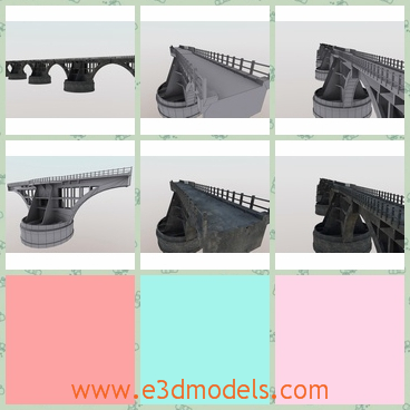 3d model of Rio Branco bridge - This 3d model is about an awesome brazilian bridge located at the state of Mato Grosso do Sul. It originally is a railroad and it is very long and wide.