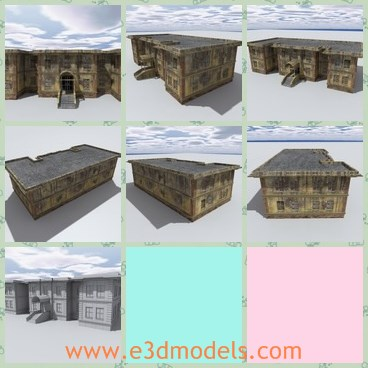 3d model the abandoned and old house - Share and Download 3D