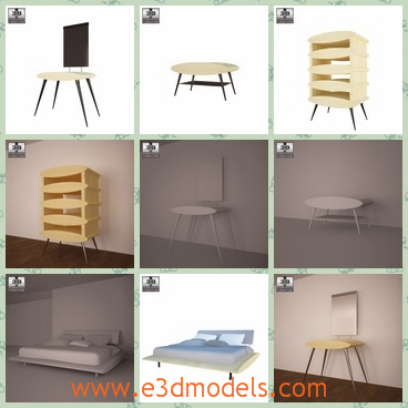 3d model the bedroom - This is a 3d model of the bedroom,which is the internal scene of it.The model is fine and the chair is special.