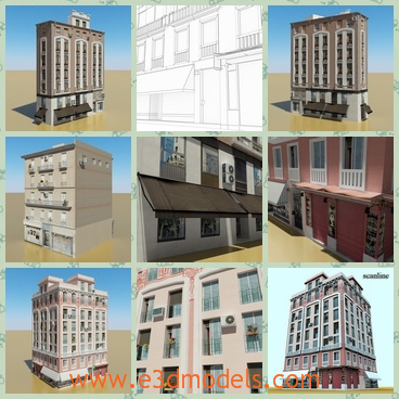 3d model the building as a hotel - This is a 3d model of the building as a hotel,which is built recently and in high quality.
