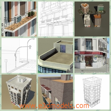 3d model the building with balconies - This is a 3d model of the buidling with balconies,which are created by a famous creator and the building is outstanding.