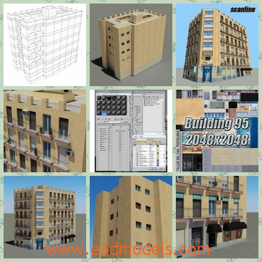 3d model the buildings - This is a 3d model of the buildings,which are made in high quality and the shops and commercial zones are near to the building.