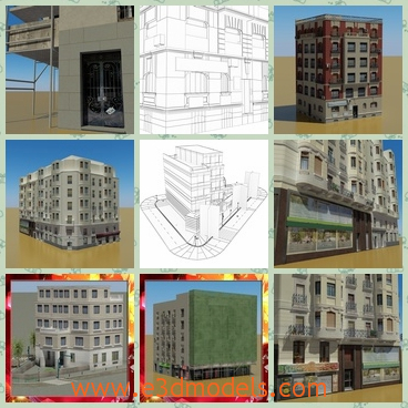 3d model the buildings in real world - This is a 3d model of buildings in real world,which are newly built.The model is designed by the famous creator.